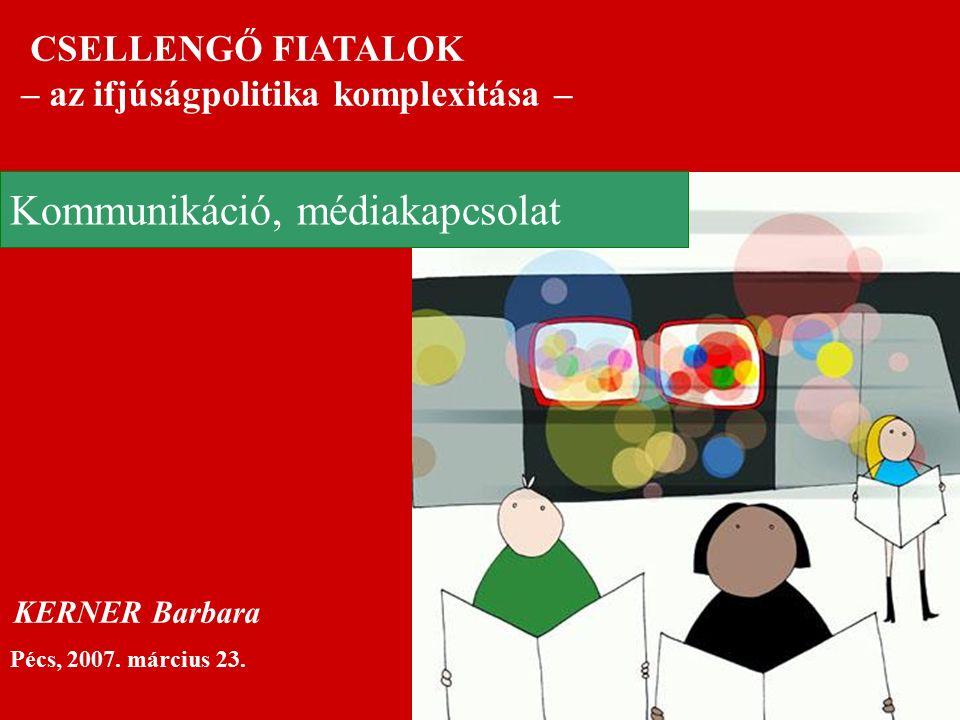 CSELLENGŐ FIATALOK – az ifjúságpolitika komplexitása – Pécs, 2007.