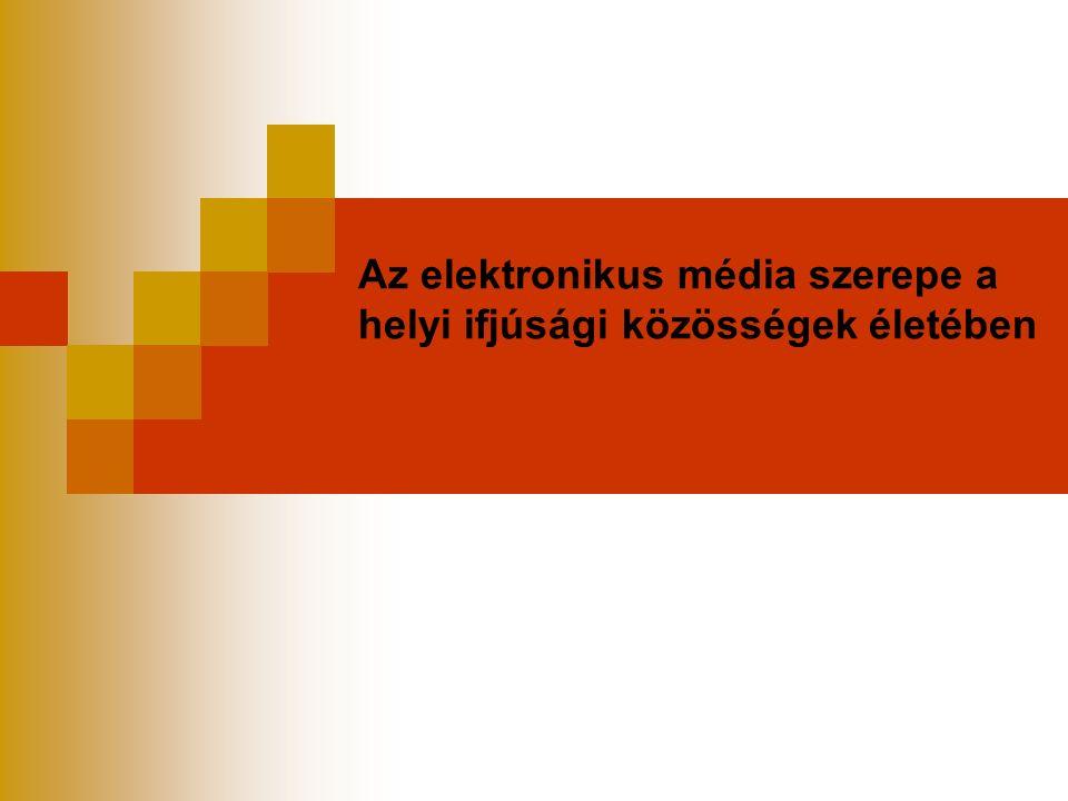 Az elektronikus média szerepe a helyi ifjúsági közösségek életében