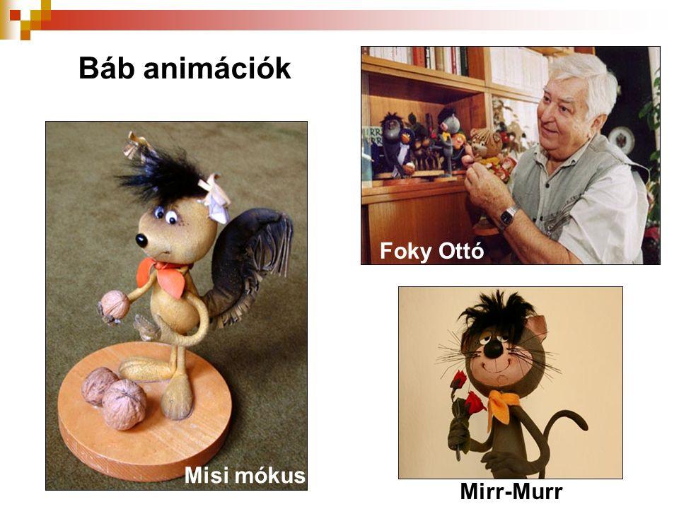 Báb animációk Foky Ottó Misi mókus Mirr-Murr