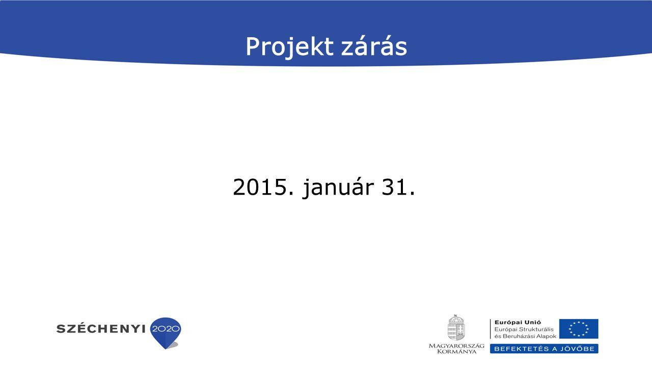 Projekt zárás 2015. január 31.