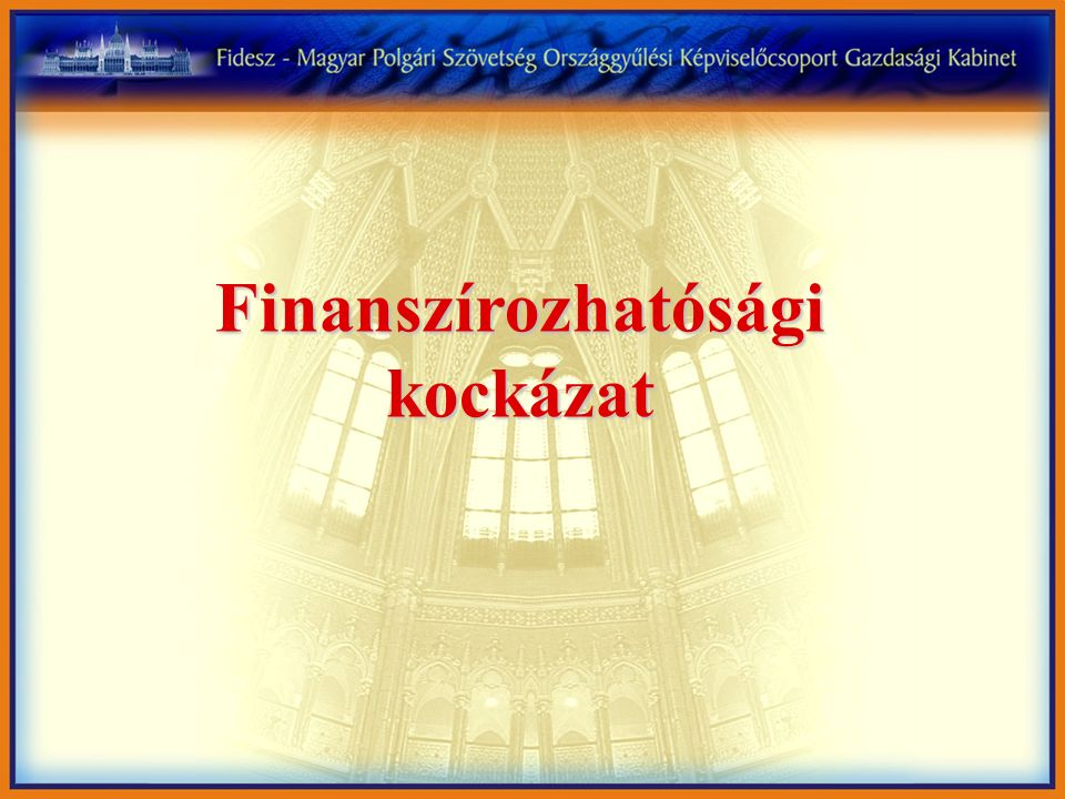 Finanszírozhatósági kockázat
