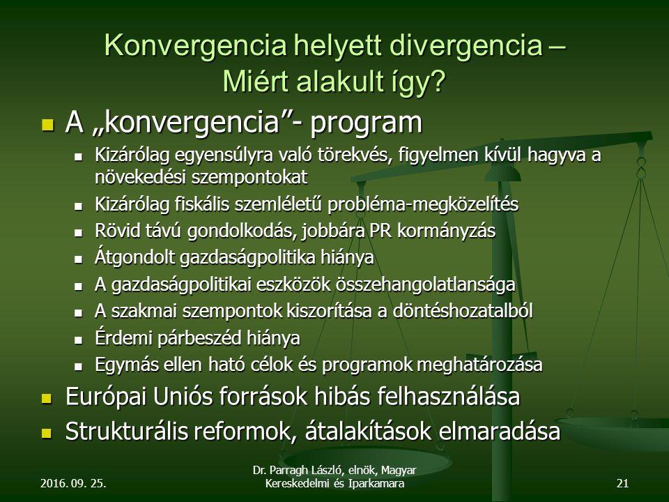 Konvergencia helyett divergencia – Miért alakult így.