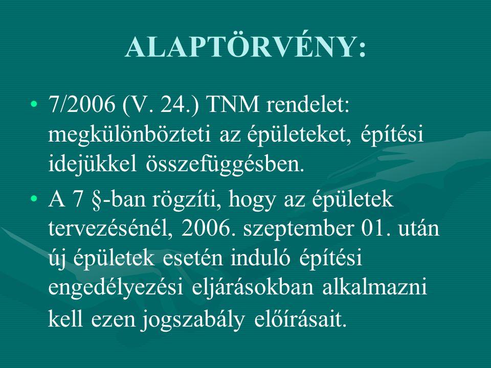 ALAPTÖRVÉNY: 7/2006 (V.