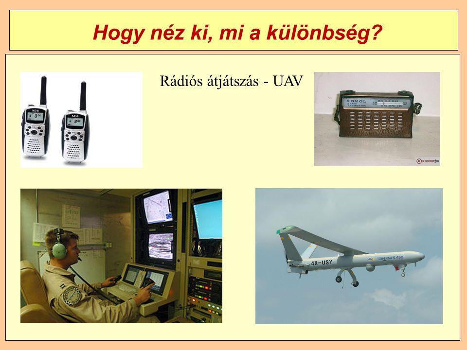 Hogy néz ki, mi a különbség Rádiós átjátszás - UAV