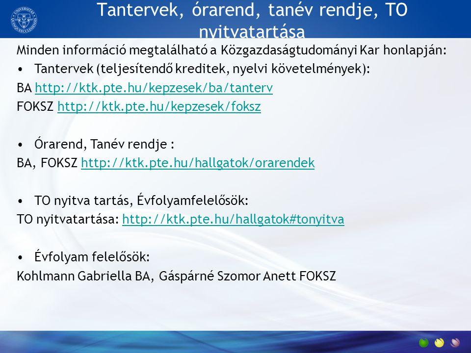 Fontosabb szabályzatok TVSZ: http://pte.hu/sites/pte.hu/files/files/Hirek/2016/07/5mell- tvsz20160624_0.pdfhttp://pte.hu/sites/pte.hu/files/files/Hirek/2016/07/5mell- tvsz20160624_0.pdf TVSZ KTK-ra vonatkozó melléklete: 7.