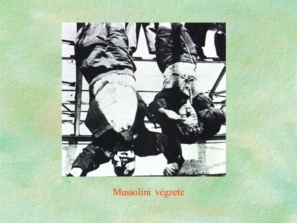Mussolini végzete