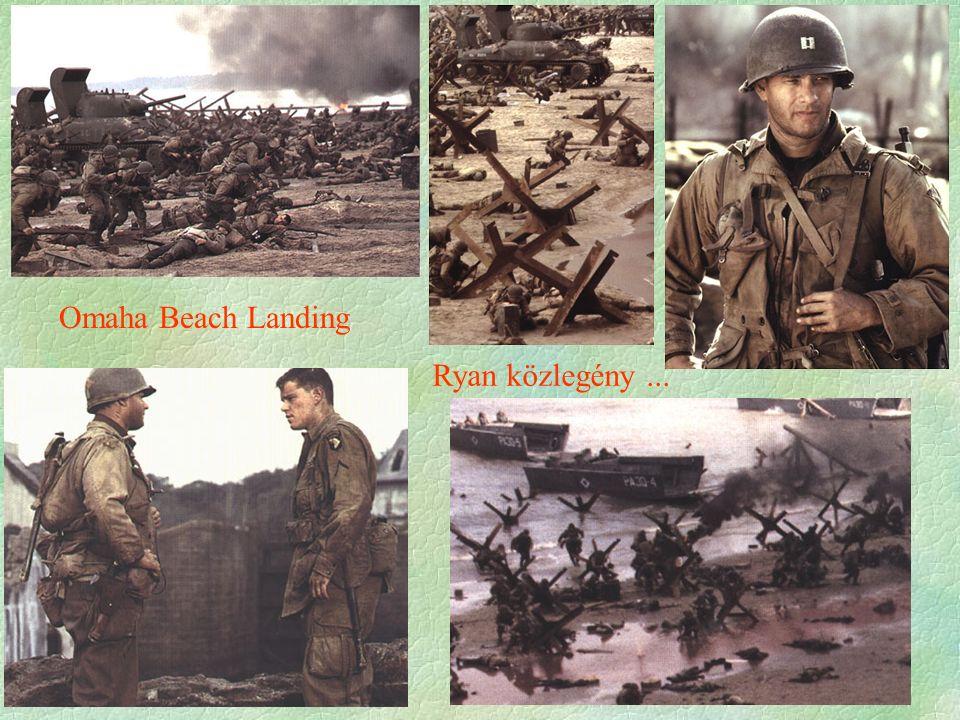 Omaha Beach Landing Ryan közlegény...