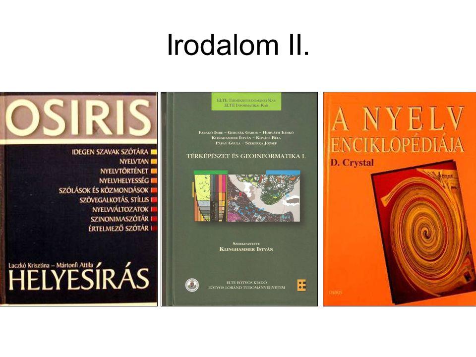 Irodalom II.