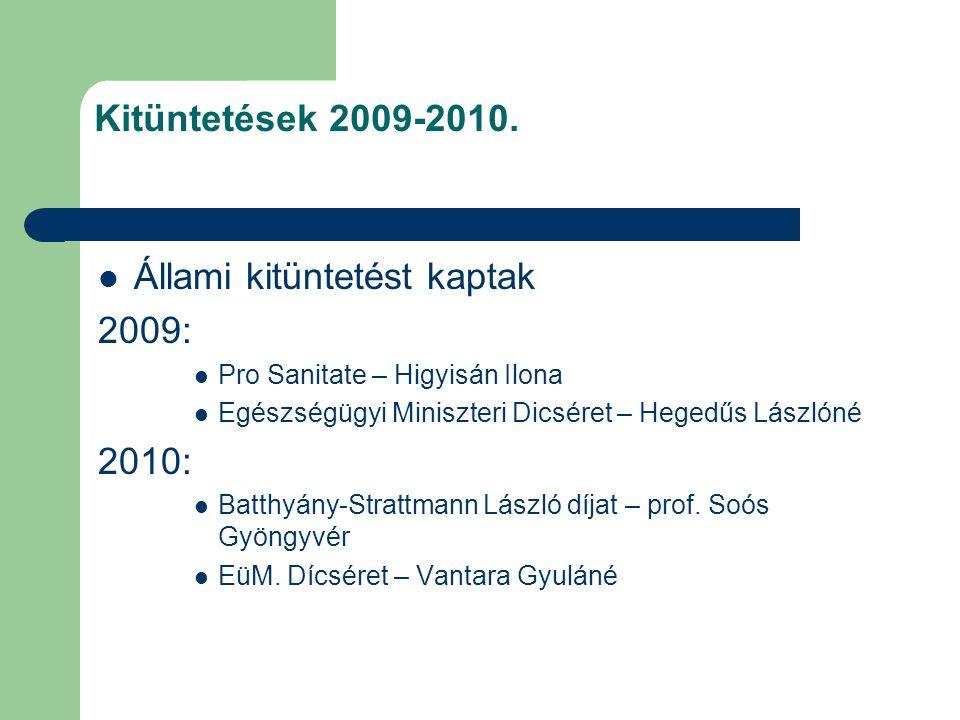 Kitüntetések 2009-2010.
