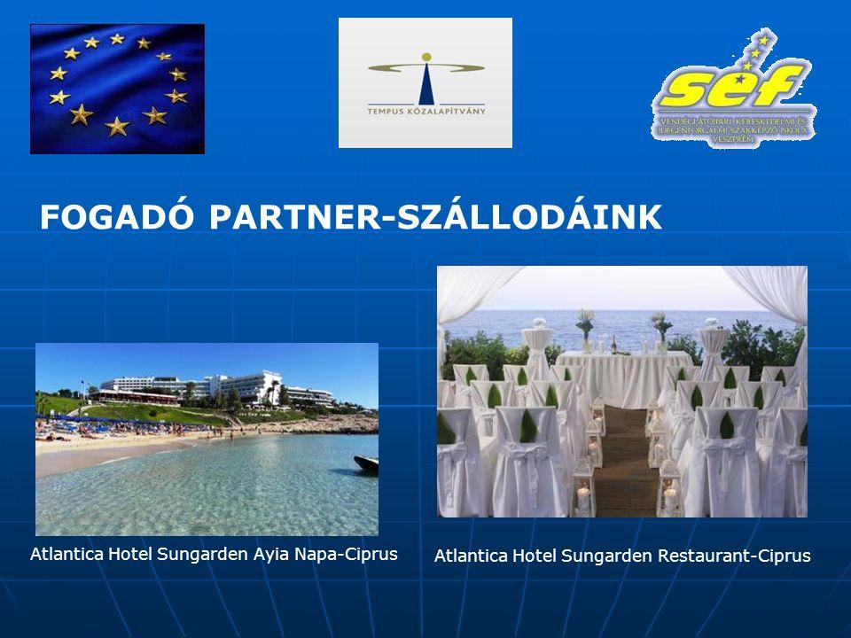 FOGADÓ PARTNER-SZÁLLODÁINK Atlantica Hotel Sungarden Ayia Napa-Ciprus Atlantica Hotel Sungarden Restaurant-Ciprus