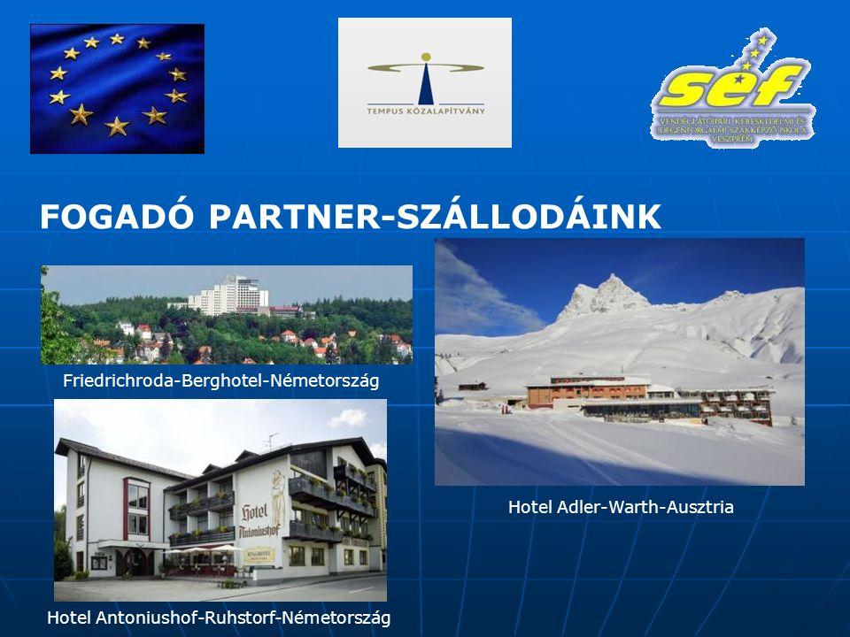Friedrichroda-Berghotel-Németország Hotel Adler-Warth-Ausztria Hotel Antoniushof-Ruhstorf-Németország FOGADÓ PARTNER-SZÁLLODÁINK