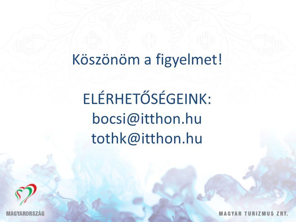Köszönöm a figyelmet! ELÉRHETŐSÉGEINK: bocsi@itthon.hu tothk@itthon.hu