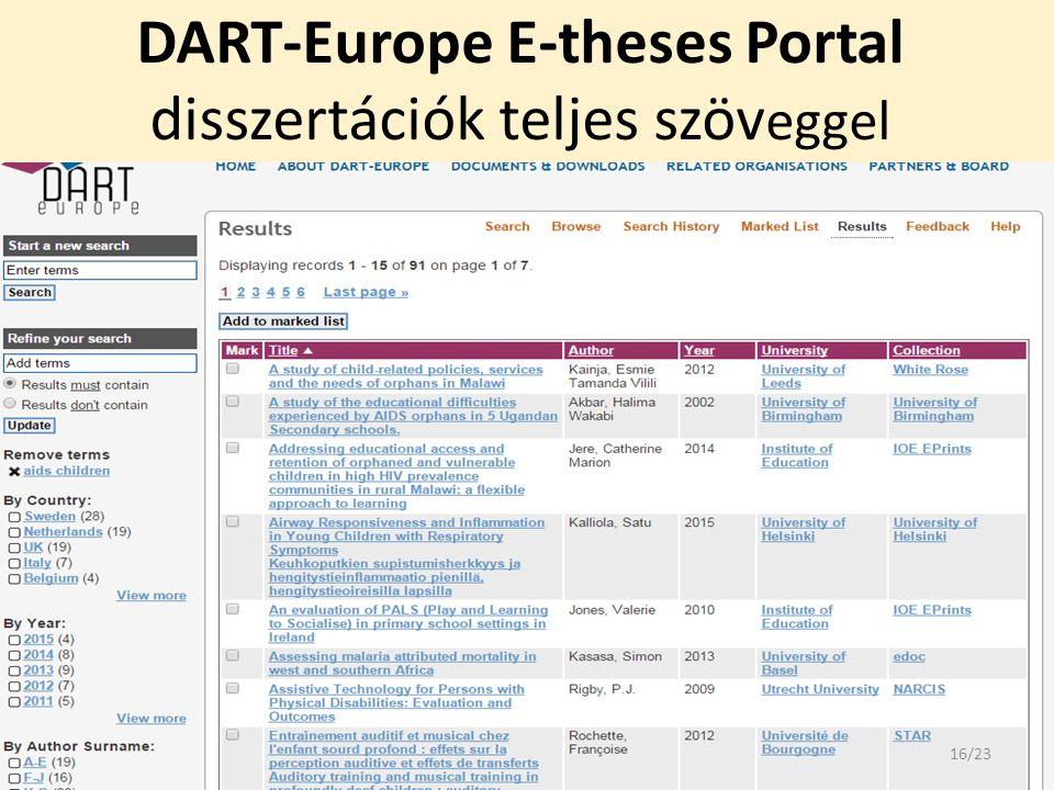 DART-Europe E-theses Portal disszertációk teljes szöv eggel 16/23
