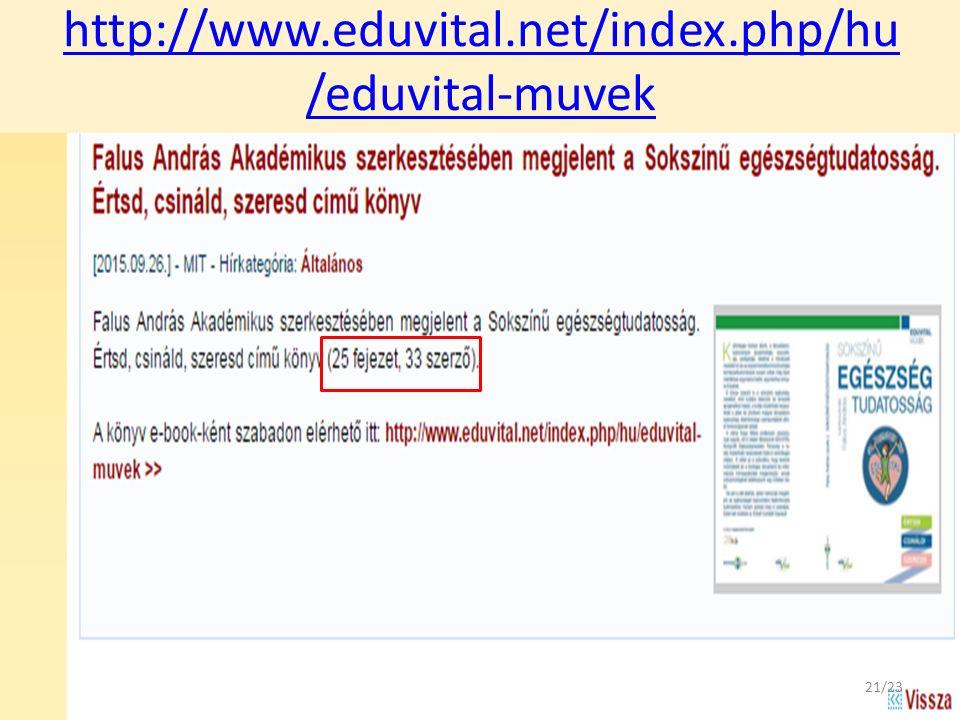 http://www.eduvital.net/index.php/hu /eduvital-muvek 21/23