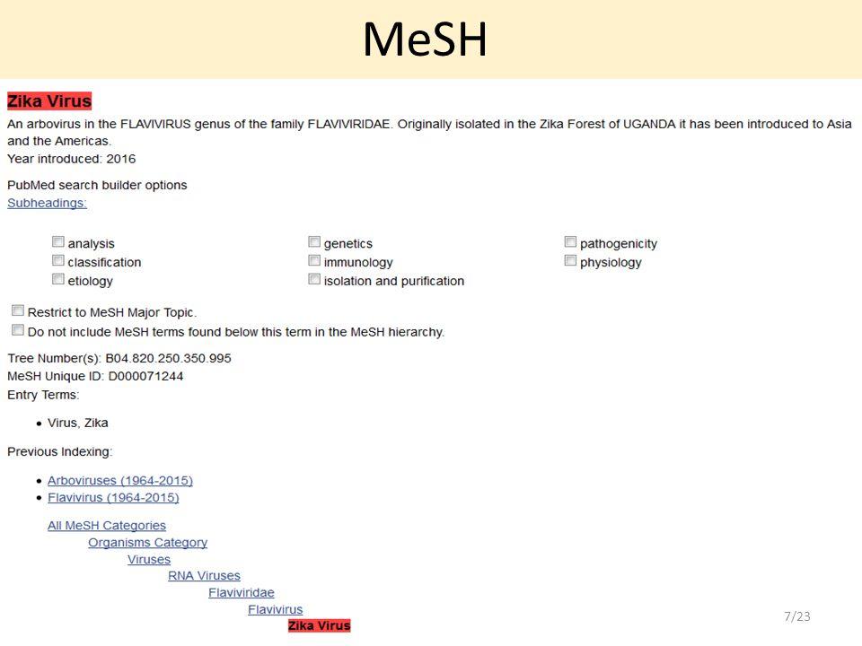 MeSH 7/23