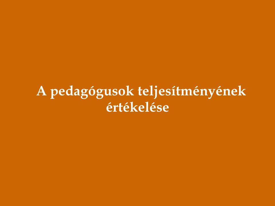 A pedagógusok teljesítményének értékelése