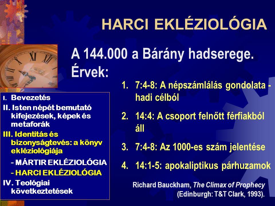 I.Bevezetés II. Isten népét bemutató kifejezések, képek és metaforák III.