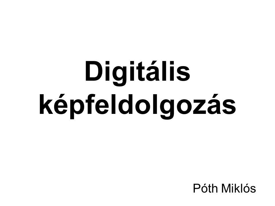 Digitális képfeldolgozás Póth Miklós