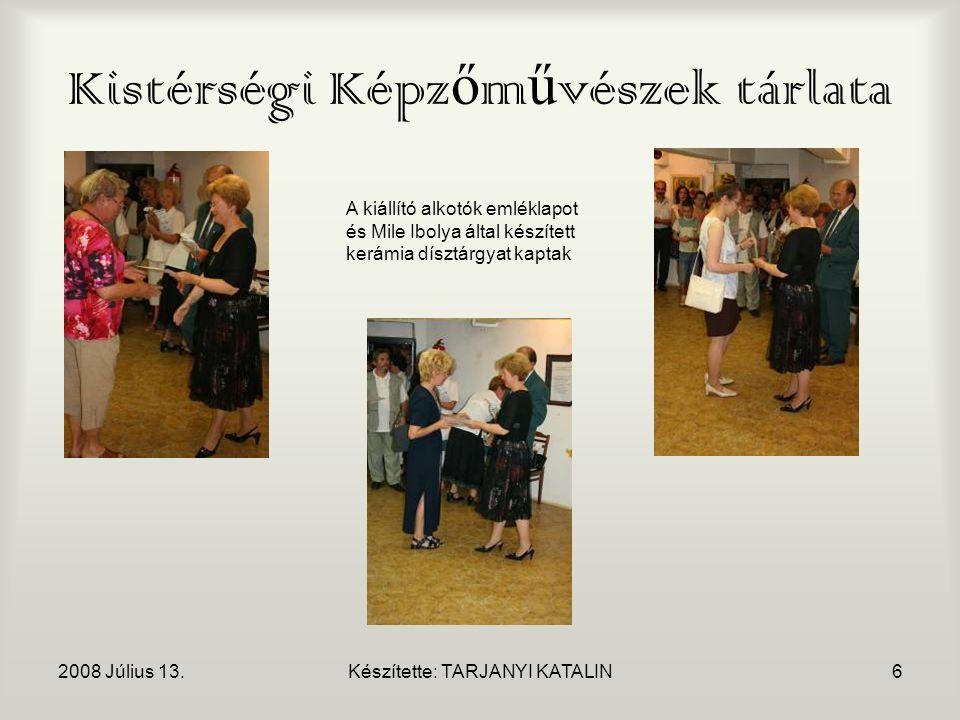 2008 Július 13.Készítette: TARJANYI KATALIN17 Lábassy emléknap 160 éves a Törökszentmiklósi Mezőgazdasági Gépgyár Alföldi Magyar Eke