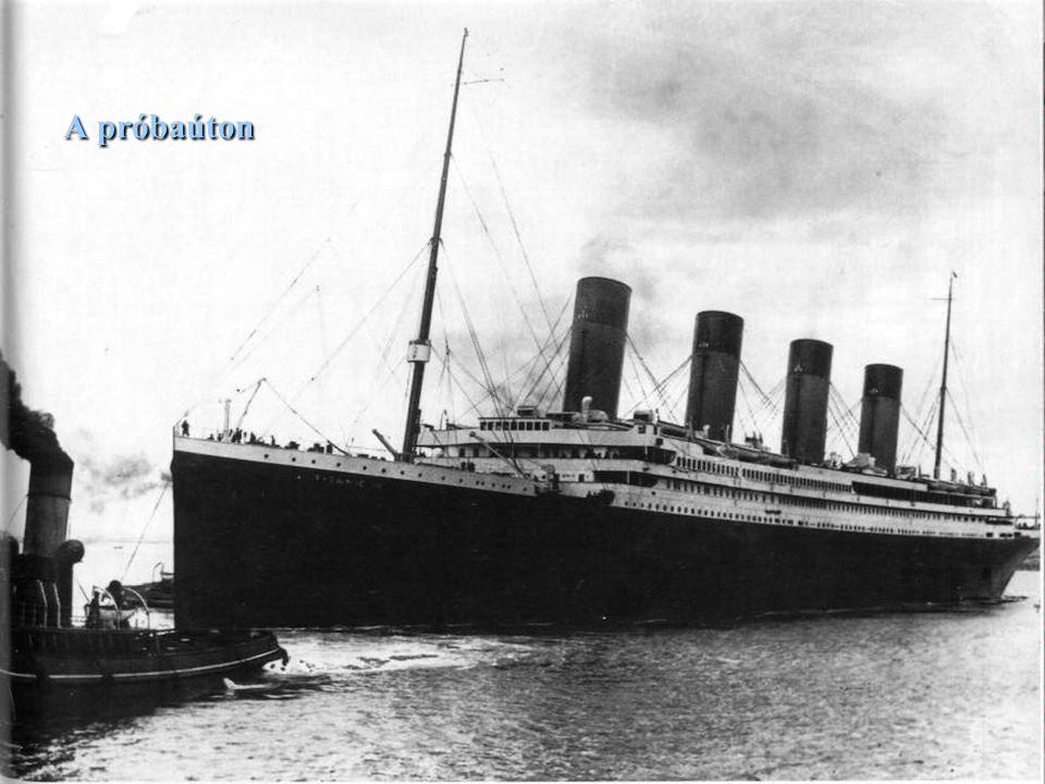 A Titanic próbaútra indul.