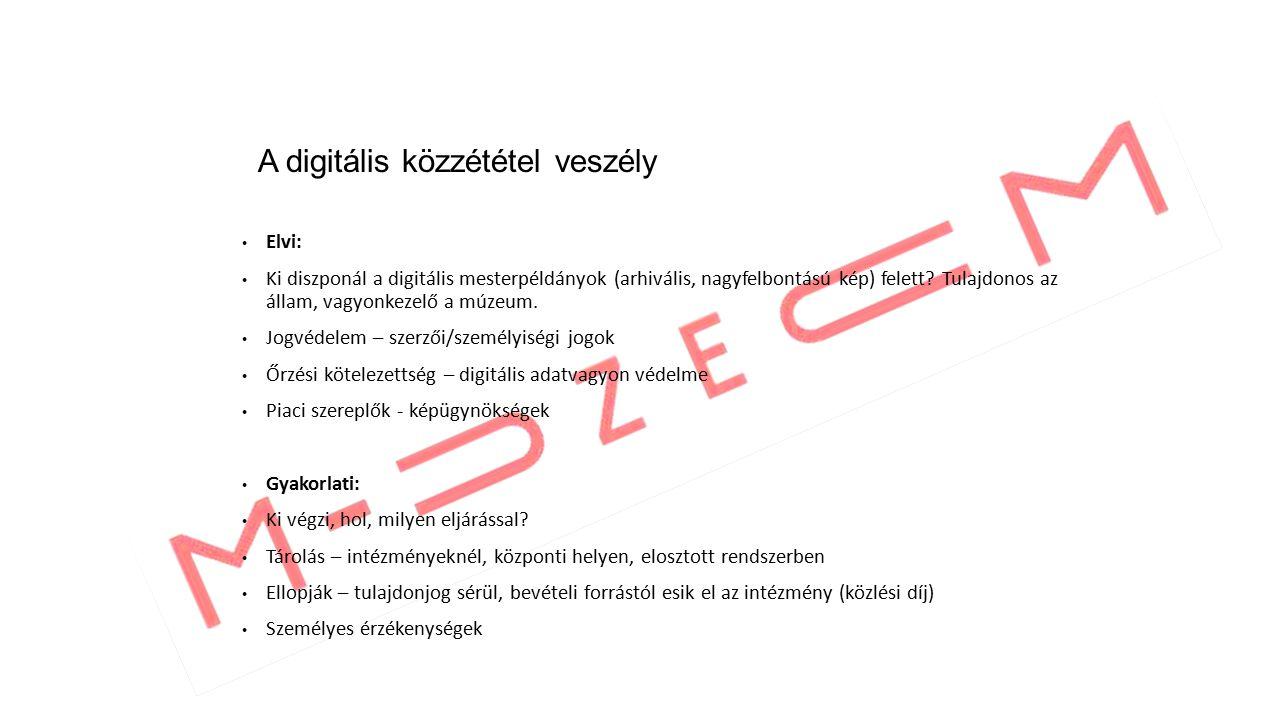 Elvi: Ki diszponál a digitális mesterpéldányok (arhivális, nagyfelbontású kép) felett.