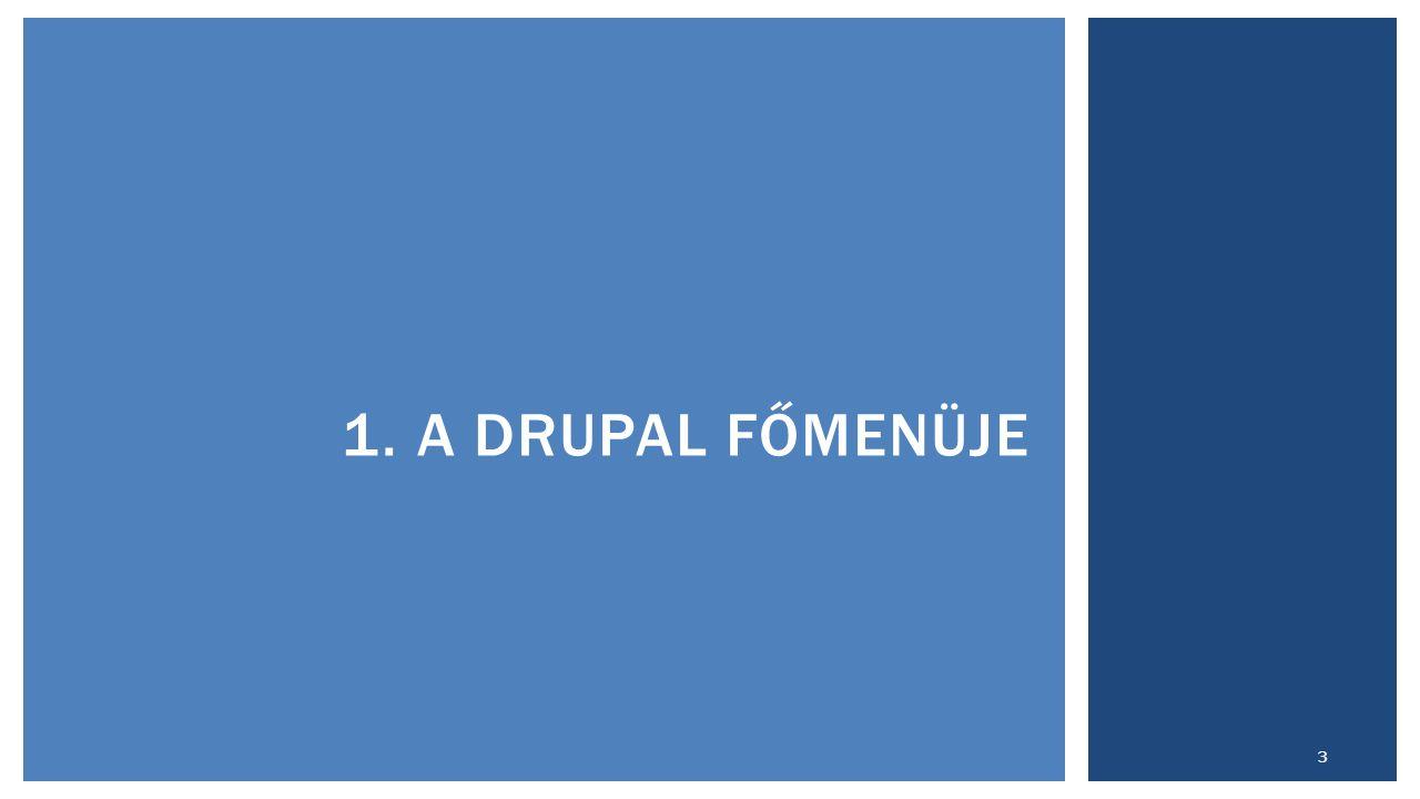 1. A DRUPAL FŐMENÜJE 3