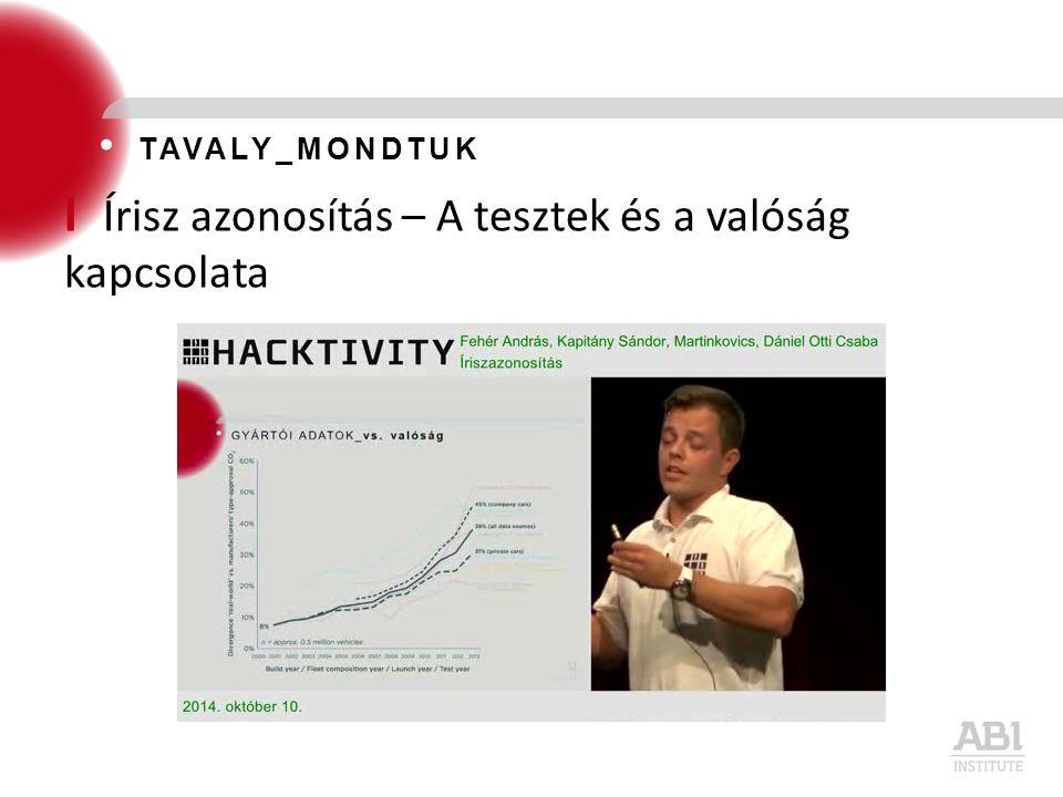 I Írisz azonosítás – A tesztek és a valóság kapcsolata TAVALY_MONDTUK