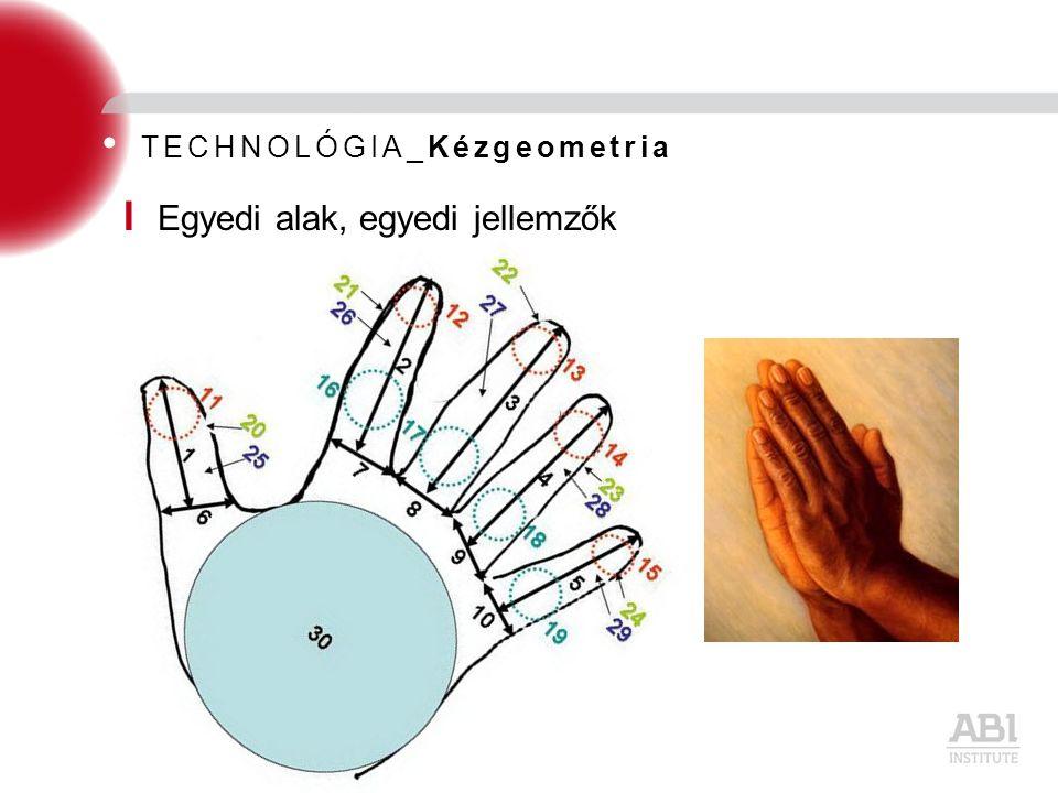 TECHNOLÓGIA_Kézgeometria I Egyedi alak, egyedi jellemzők