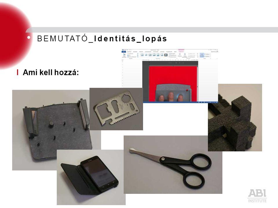 BEMUTATÓ_Identitás_lopás I Ami kell hozzá: