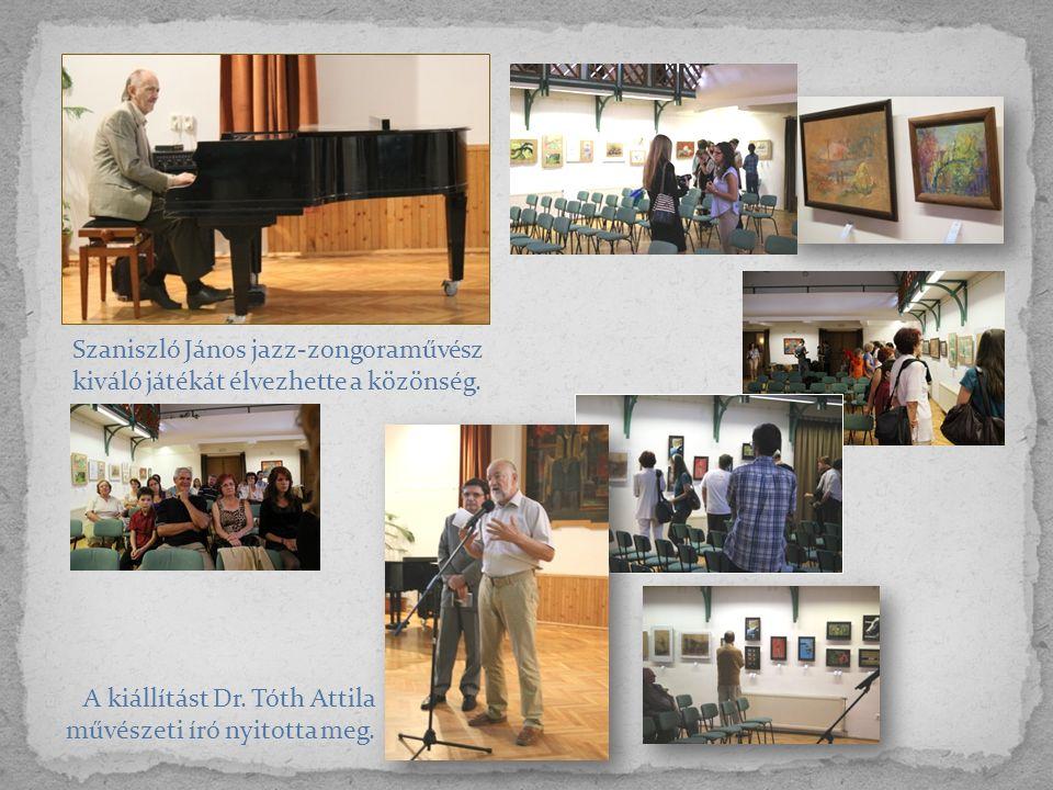 Szaniszló János jazz-zongoraművész kiváló játékát élvezhette a közönség.