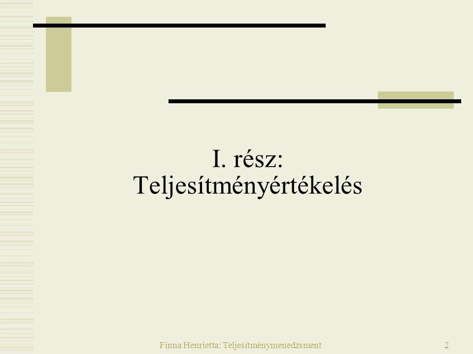 Finna Henrietta: Teljesítménymenedzsment33 II.