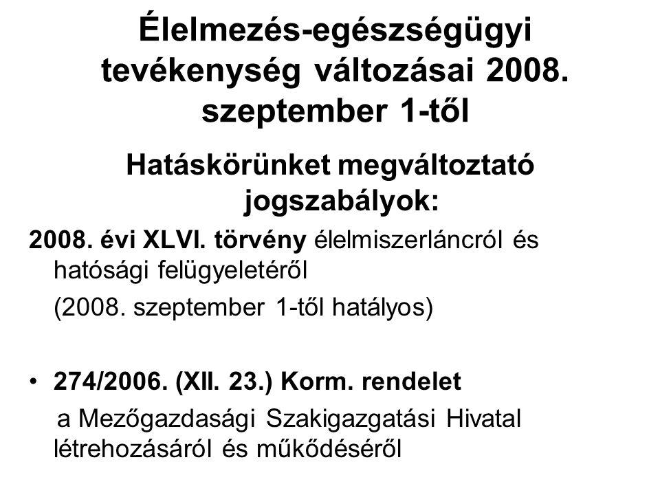 Hatályon kívül helyezett jogszabályok: 2003.évi LXXXII.