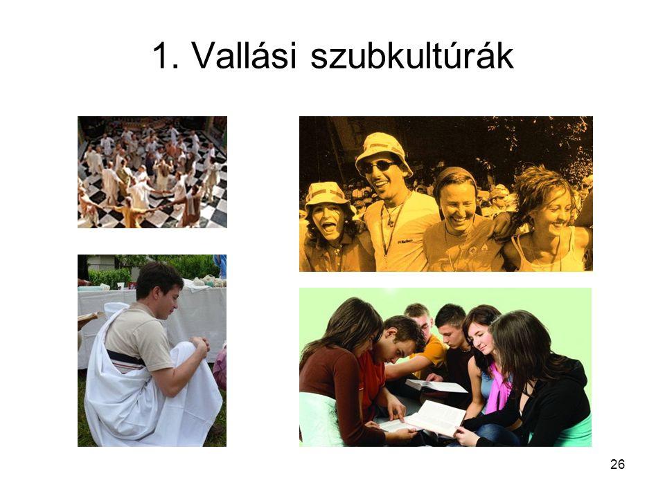 Ifjúsági (szub)kultúrák 1.