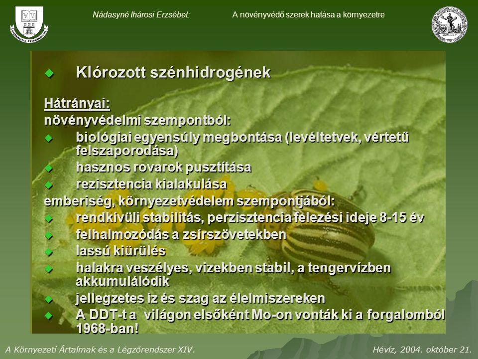 A Környezeti Ártalmak és a Légzőrendszer XIV. Hévíz, 2004.