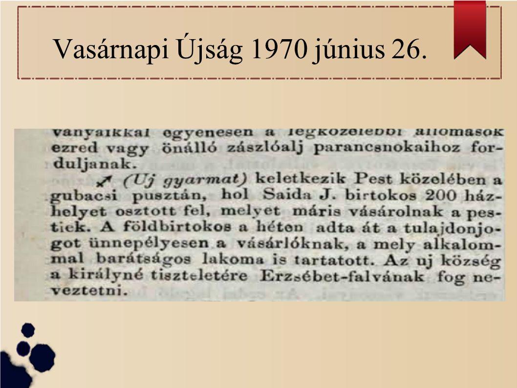 Vasárnapi Újság 1970 június 26.