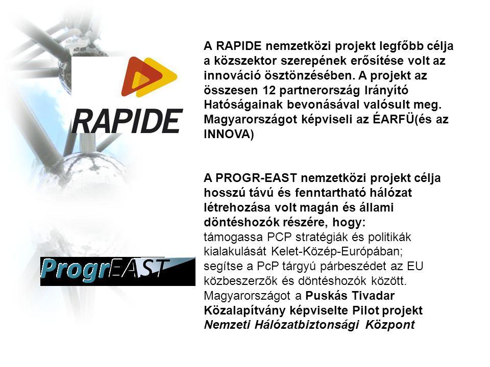 A RAPIDE nemzetközi projekt legfőbb célja a közszektor szerepének erősítése volt az innováció ösztönzésében.