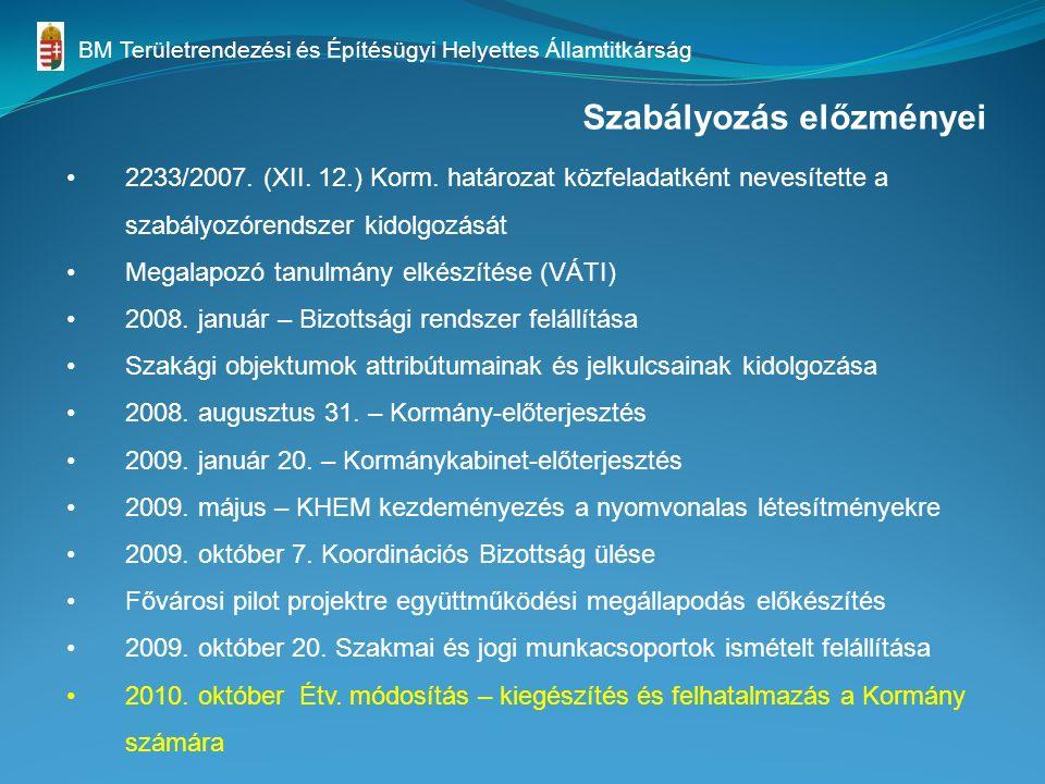 Szabályozás előzményei 2233/2007. (XII. 12.) Korm.