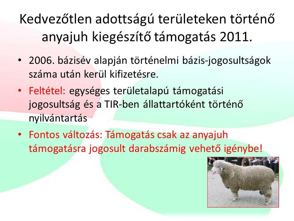 Védett őshonos állatok megőrzésének támogatása 2011.