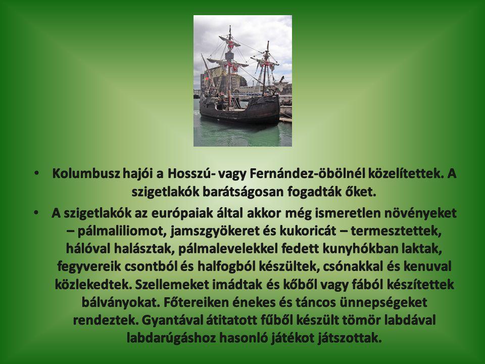 1492.október 24-én Kolumbusz Kuba felé indult, ahova 1492.