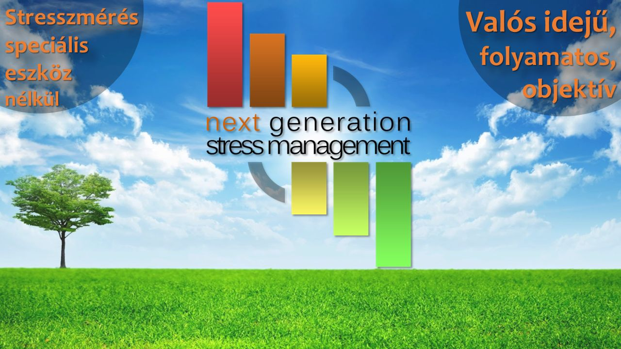 Valós idejű, folyamatos, objektív StresszmérésspeciáliseszköznélkülStresszmérésspeciáliseszköznélkül