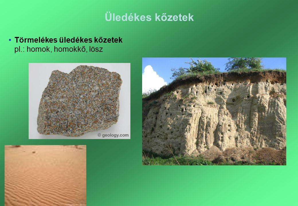 Peter&Toncsi Bt. Üledékes kőzetek Törmelékes üledékes kőzetek pl.: homok, homokkő, lösz