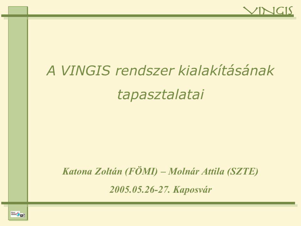 Katona Zoltán (FÖMI) – Molnár Attila (SZTE) 2005.05.26-27.