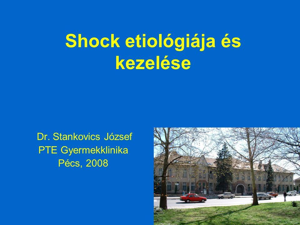 Shock etiológiája és kezelése Dr. Stankovics József PTE Gyermekklinika Pécs, 2008