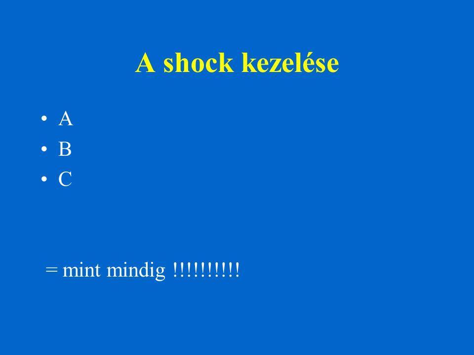 A shock kezelése A B C = mint mindig !!!!!!!!!!