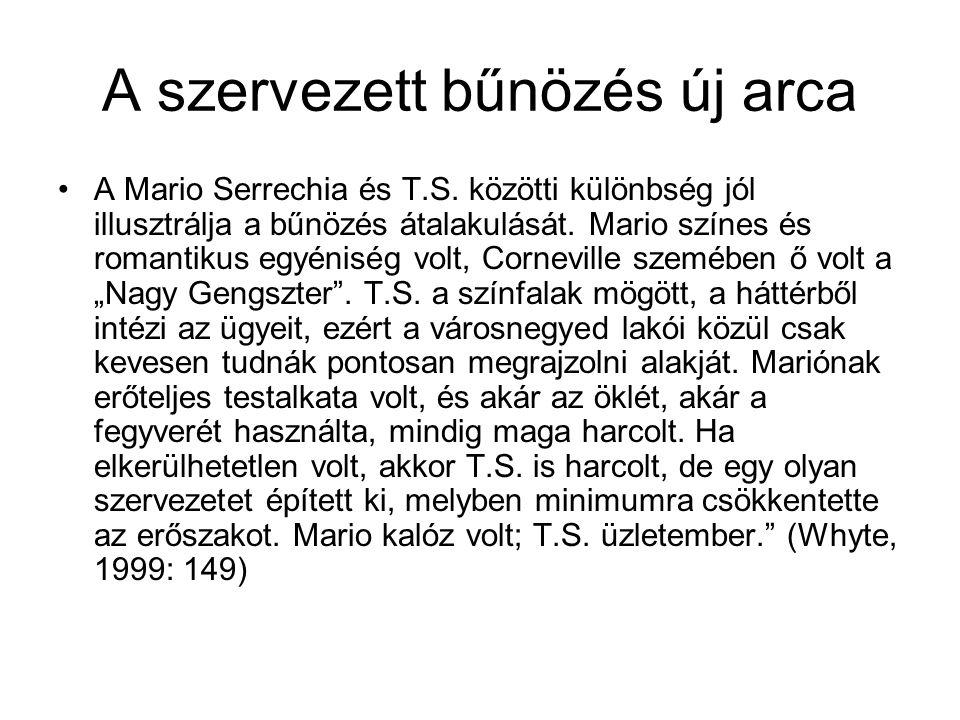 A szervezett bűnözés új arca A Mario Serrechia és T.S.
