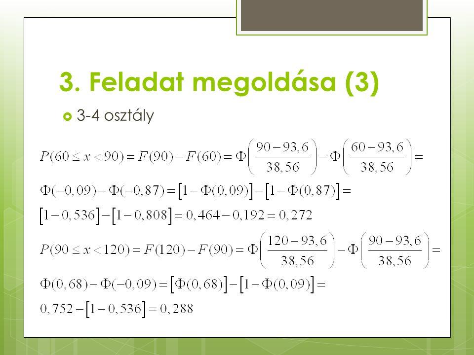 3. Feladat megoldása (3)  3-4 osztály