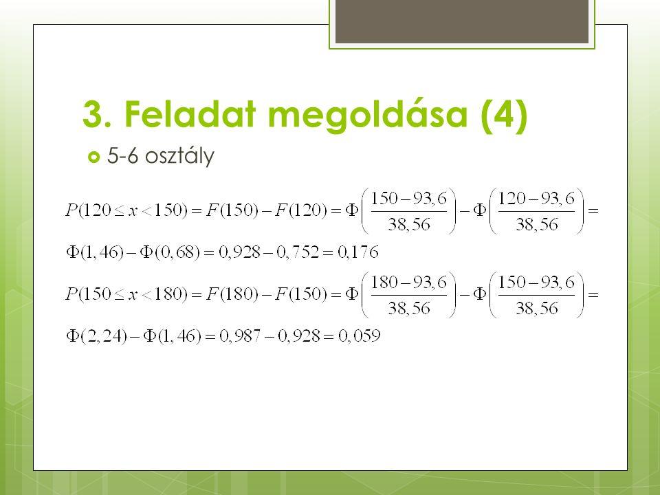 3. Feladat megoldása (4)  5-6 osztály