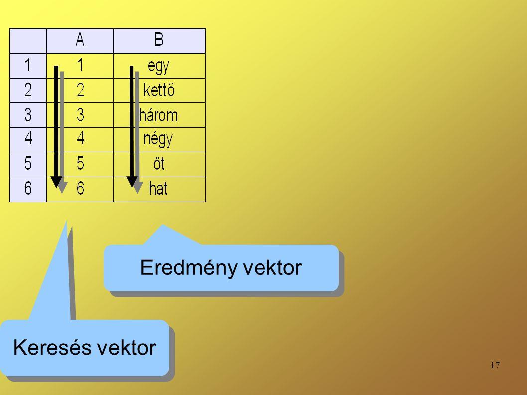17 Keresés vektor Eredmény vektor