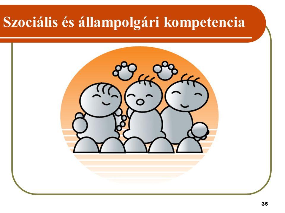 35 Szociális és állampolgári kompetencia