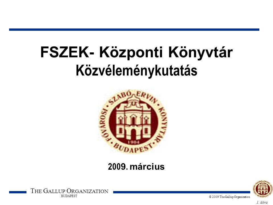 1. ábra T HE G ALLUP O RGANIZATION BUDAPEST © 2009 The Gallup Organization FSZEK- Központi Könyvtár Közvéleménykutatás 200 9. március